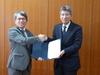 兵庫県立尼崎小田高等学校と高大連携教育に関する協定を締結しました