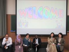 外国人留学生と県立兵庫高等学校の生徒が交流しました
