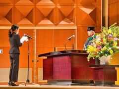 大学院学校教育研究科入学式を挙行しました